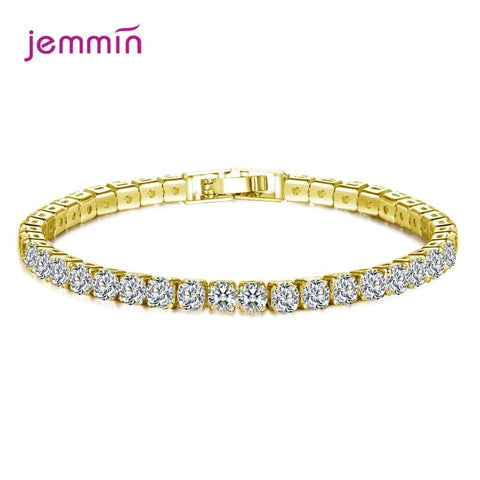 Boutique Wedding Bridal New Women 925 Sterling Silver Rhinestone Bangle Stretch Bracelets Jewelry Pulsera Mujer Wholesale