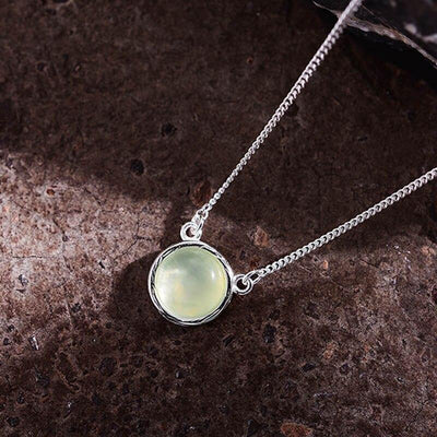 Lotus Fun Real 925 Sterling Silver Designer Fine Jewelry Natural Candy Color Gemstones Classic Round Pendant Necklace for Women