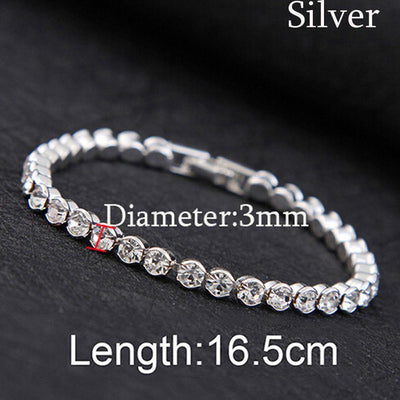 Hot Shiny Luxury Cubic Zirconia Bracelets Iced Out Chain Crystal Wedding Bracelet For Women Men Gold Silver Color Bracelet Bijou