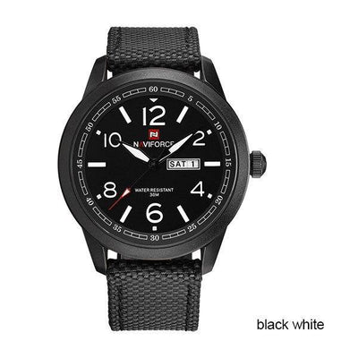 Men Quartz Watch NAVIFORCE Brand Fashion Sport Calender Watches Nylon Strap Wristwatch 2018 Gift Watch With Box 30M Waterproof