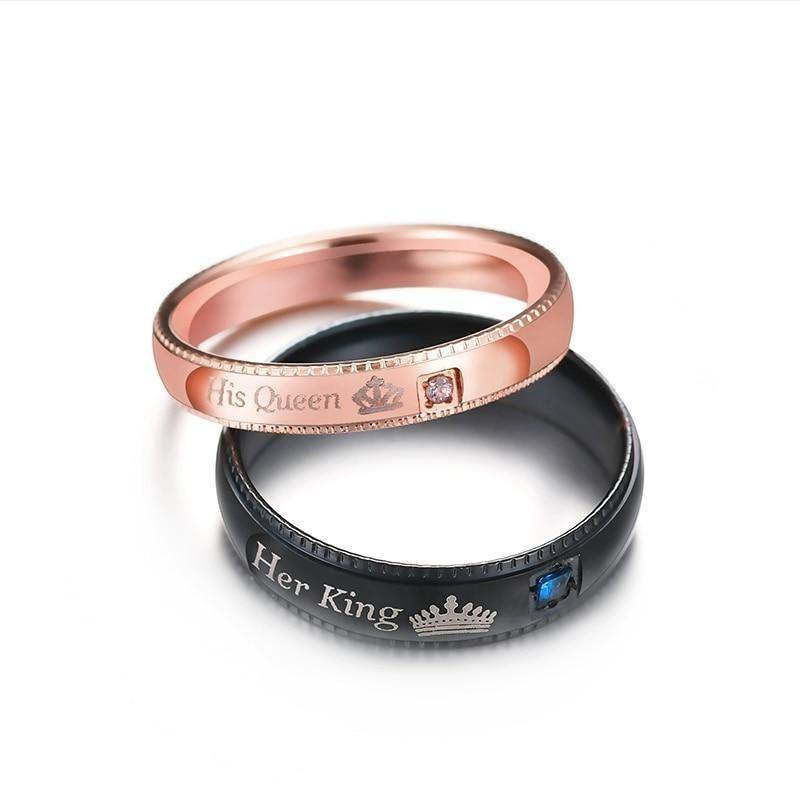Her King & His Queen Promise Rings - Euforia Jewels