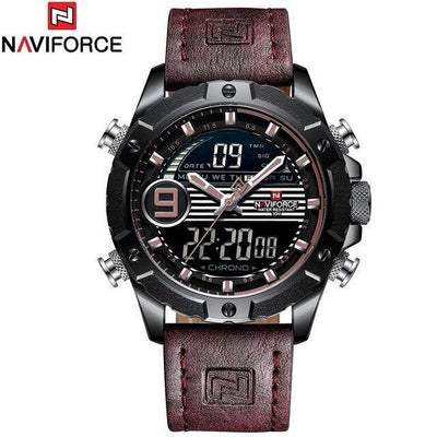 Relogio Masculino Top Luxury Brand NAVIFORCE Men Sports Watches Men's Quartz Digital Clock Male Fashion Leather Waterproof Watch
