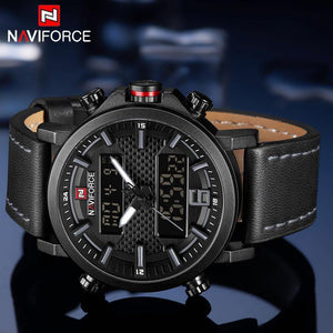 NAVIFORCE Top Luxury Brand Military Quartz Mens Watches LED Date Analog Digital Watch Men Fashion Sport Clock Relogio Masculino