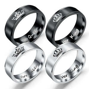 Her King His Queen Couple Rings - Euforia Jewels