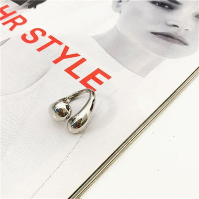 Peri'sBox Gold Statement Dome Ring for Women Big Large Open Finger Ring Chunky Dome Wide Ring Jewelry New Hot