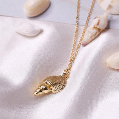 17KM Bohemian Multilayer Shell Pendant Necklaces For Women Vintage Gold Color Long Choker Necklaces Ocean Jewelry Gifts 2019 New