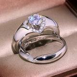 New Arrival Vintage Rose Gold Filled Wedding Rings For Women Fashion Jewelry  Luxury White Zircon Engagement Ring
