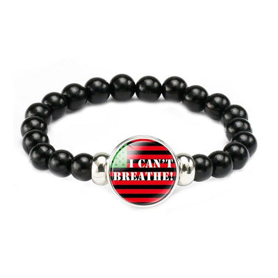 I CAN'T BREATHE Black Lives Matter Bracelet Black Stainless Steel Adjustable Wristband Men Women Bangles BLM Bracelets
