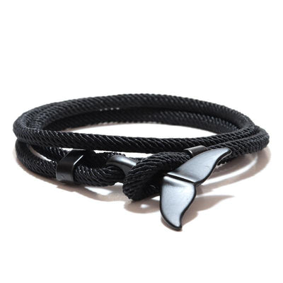 Hand Braided Whale Tail Viking Bracelet Charms Handmade Red Rope Braslet For Men Wristband String Adjustband Jewelry Homme