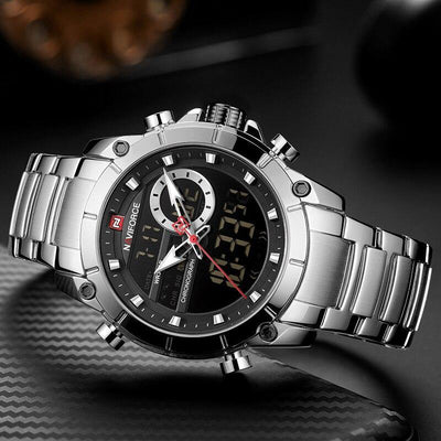NEW NAVIFORCE Watches for Men Top Luxury Brand Fashion Sport Men's Watch Stainless Steel Waterproof Quartz Wristwatch Male Clock