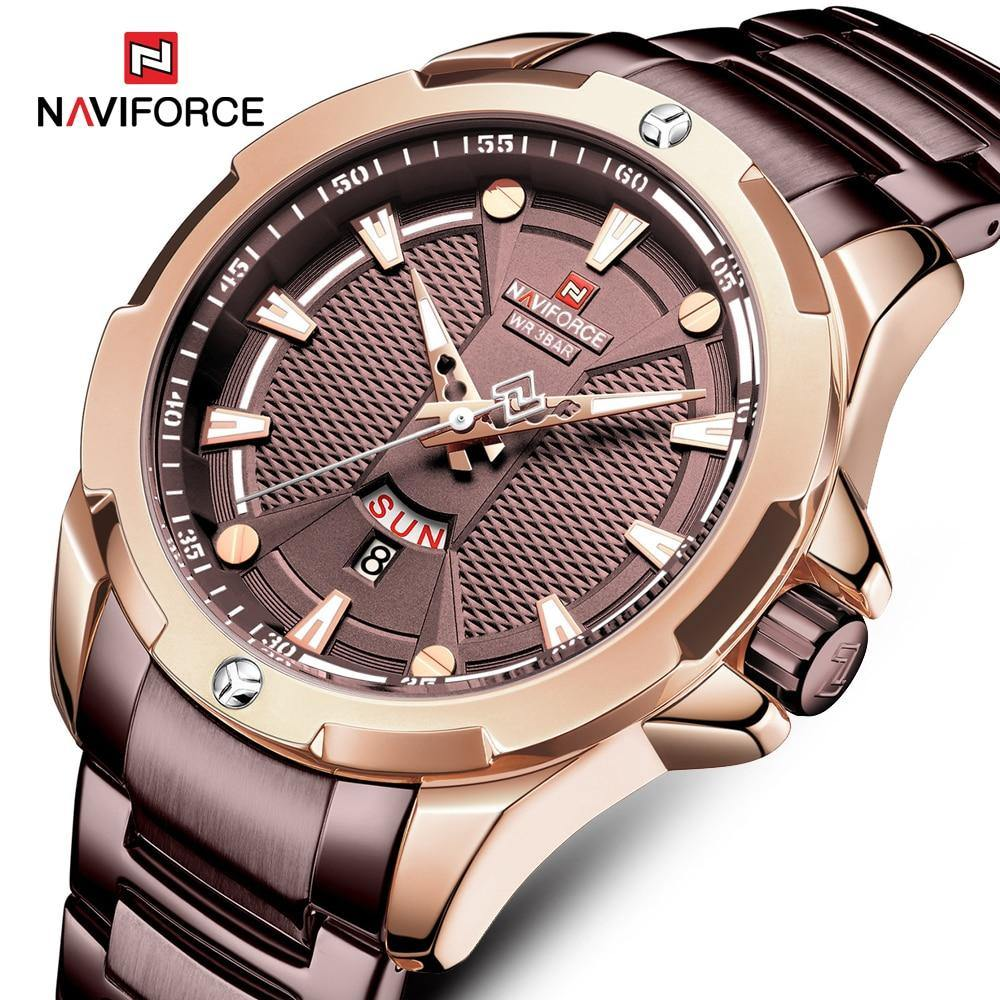 NAVIFORCE Fashion Mens Quartz Watches Luxury Brand Multi-function dial Sport Watch Men Casual Waterproof Clock Relogio Masculino