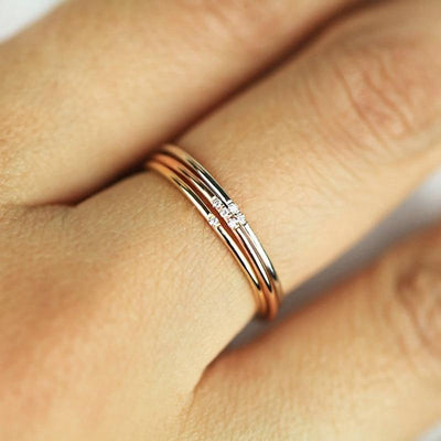 ZHOUYANG Rings For Women Micro-inserts Cubic Zirconia Thin Finger Ring Fashion Jewelry Ring KCR101