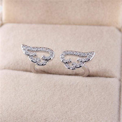 Adjustable Angel Wings Ring Micro Pave Zircon Gold-Color Rings For Women Fashion rings Jewelry bague femme Female Gifts #238251 - Euforia Jewels