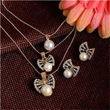 Austrian Crystal Golden Plated Jewerly Sets For Women Cat's Eye Stones Jewelry Set  african necklace earrings jewellery set - Euforia Jewels