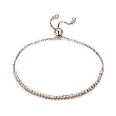 BAMOER Featured Brand DEALS 925 Sterling Silver Sparkling Strand Bracelet Women Link Tennis Bracelet Silver Jewelry SCB029 - Euforia Jewels