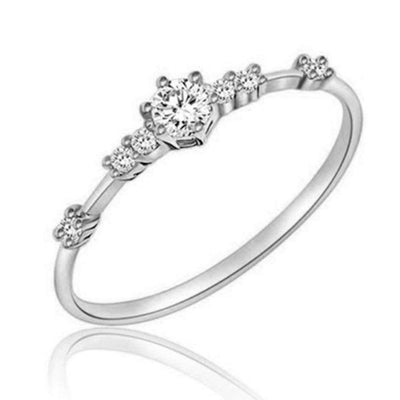 Beauty Exquisite Women Fashion Eternity Thin Rings Plating Wedding Jewellery Hot Fashion #71220 - Euforia Jewels