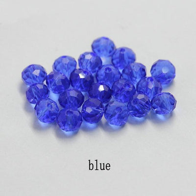 Big sale 6-8mm colorful charms glass loose beads crystal round jewellery beads for jewelry making Necklace Bracelet Accessories - Euforia Jewels