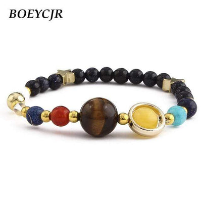 BOEYCJR Universe Planets Beads Bangles & Bracelets Fashion Jewelry Natural Solar System Energy Bracelet For Women or Men 2019 - Euforia Jewels