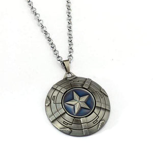 Captain America Necklace The Avengers Rotatable Pendant Fashion Stainless Steel Chain Necklaces Gift Jewelry Accessories - Euforia Jewels