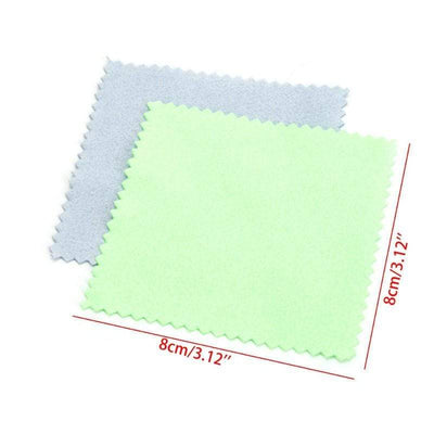 10pcs Jewelry Polishing Cloth Clean Cleaning for Platinum Gold and Silver Glasses Jewelrys - Euforia Jewels