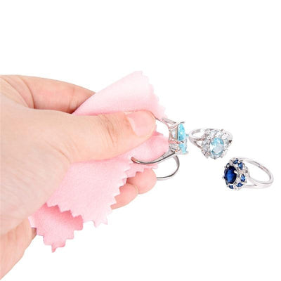 Clean Cleaning Cloth Polishing Cloth For Sterling Silver Gold Platinum Jewelry Anti Tarnish 50PCS/Bag - Euforia Jewels
