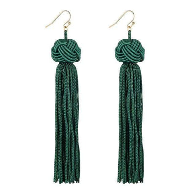 Crazy Feng Handmade Tassel Earrings 2018 Trendy Black Red Yellow Green Long Dangles Ear Broncos Silk Fringed Jewellery For Women - Euforia Jewels