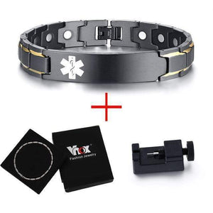 Customisable Medical Alert ID Bracelets - Euforia Jewels