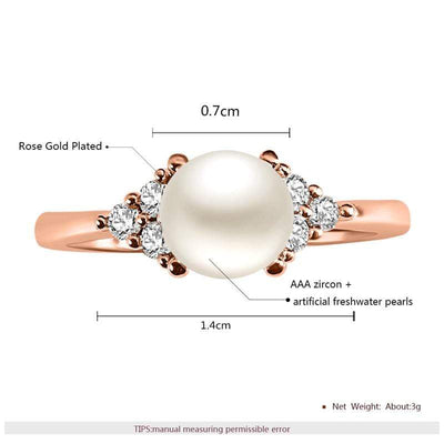 Dainty Fashion Pearl Wedding Rings for women - Euforia Jewels