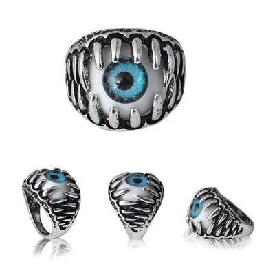 Domineering Exaggerated Personality Eye Ring Eyeball Ring Eyeball Ring - Euforia Jewels