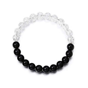 Fashion Acrylic Distance Bracelets For Women Men Classic Black and White Charm Beads Bracelet & Bangles Jewelry gift ns74 - Euforia Jewels