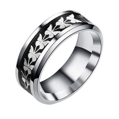 Fashion  Stainless Steel  Women Men Bohemian Vintage Butterfly Totem Rings  Jewelry Delicate - Euforia Jewels