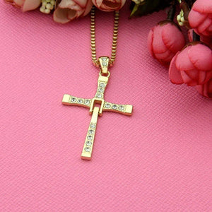 Fast and Furious Necklace, Dominic Toretto Cross Necklace - Euforia Jewels
