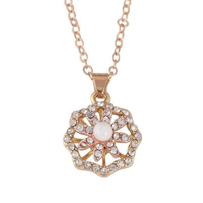 Flowers Studded With Rotary Necklaces And The Necklace Is In Fashion - Euforia Jewels
