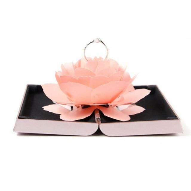 Foldable Rose Ring Box For Women 2019 Creative Jewel Storage Paper Case Small Gift Box For Rings - Euforia Jewels