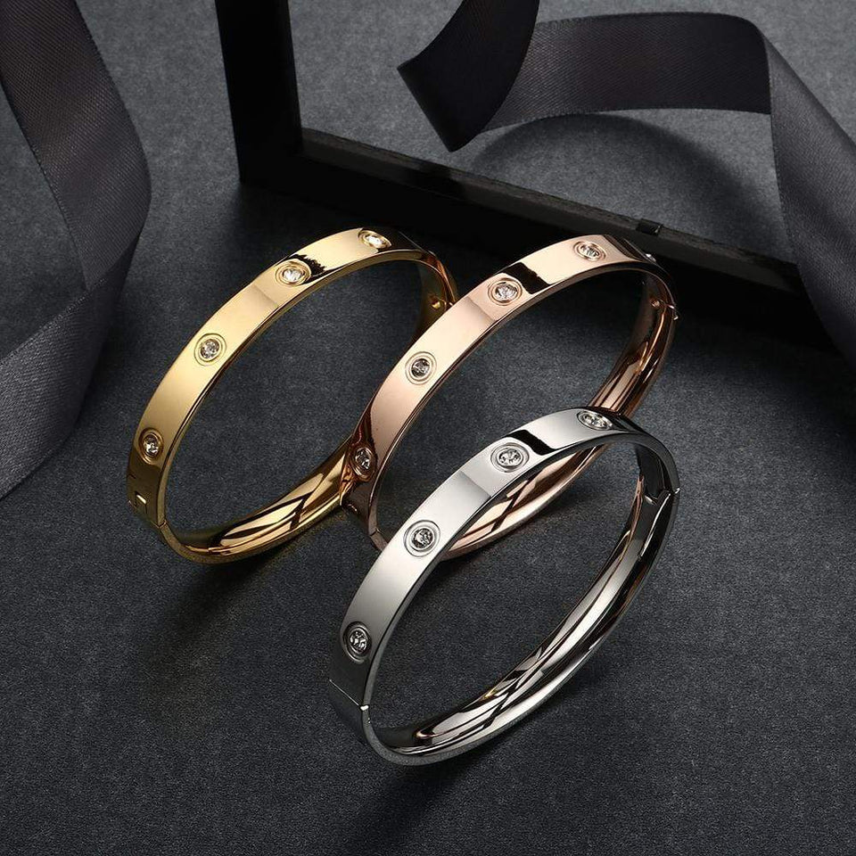 Gold Plating Lover Bracelets&Bangles for Women Rose Gold
