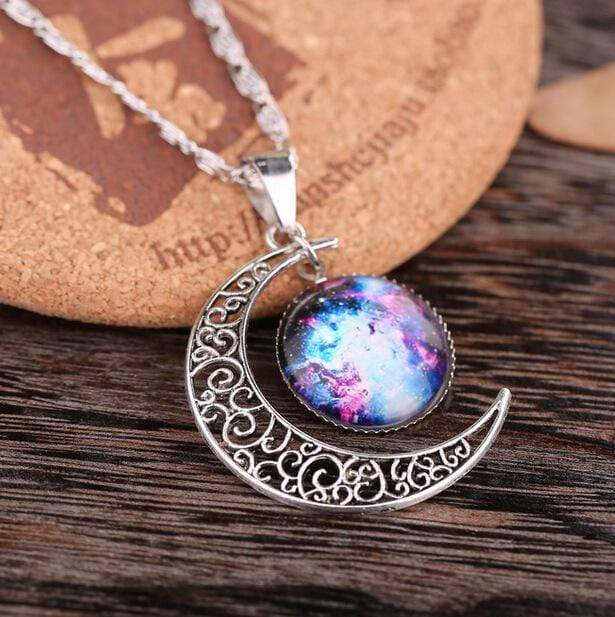 Handmade Crescent Moon Moonstone Retro Charm Crystal Necklace Charm Pendant Jewelry Gift Chocker collares Collier ras de cou - Euforia Jewels