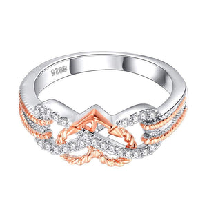 Heart Jewelry Rings Fashion Crystal Engagement Ring Wedding Ring for Women - Euforia Jewels