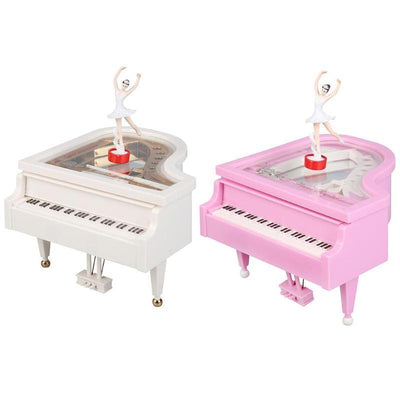 Heart Shape Dancing Ballerina Music Box Plastic Jewellery Box Girls Carousel Hand Crank Music Box Mechanism 2019 new year Gift - Euforia Jewels