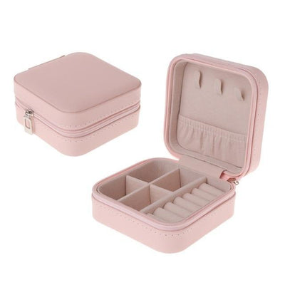 Jewelry Box Portable Storage Organizer Zipper Portable Women Display Travel Case - Euforia Jewels