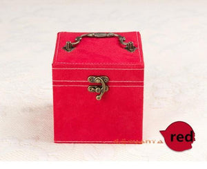 Korean Style Edition Of Rabbit Hair Three Layers Deer Flannel Jewelry Box/Jewelry Case/Storage Velvet Box Ten Colors Optional - Euforia Jewels