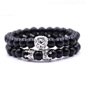 Lion Couple Bracelet Men Jewelry Bracelets For Women Pulseira Masculina Jewellery Feminina Bileklik Elastic Crown Armbanden 2018 - Euforia Jewels