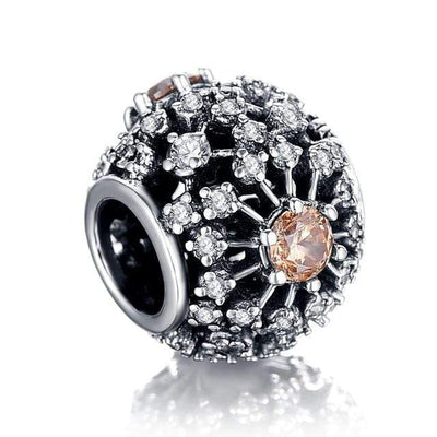LZESHINE 100% 925 Sterling Silver Sparkling CZ Charms Beads Fit Original Pandora Charms Bracelets Silver DIY Jewelry Accessories - Euforia Jewels