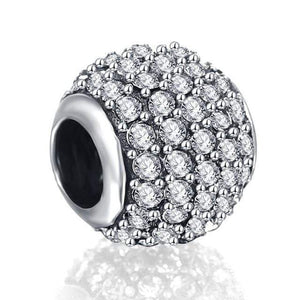 LZESHINE 100% S925 Sterling Silver Spacer Charms Beads Fit Original Pandora Charms Bracelets DIY Silver Jewelry Drop shipping - Euforia Jewels