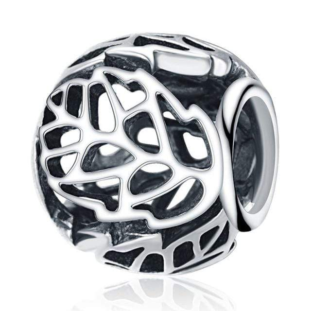 Hot S925 Silver Round Spacers Charms Beads Fit Original Pandora Bracelets Sterling Silver Jewelry DIY Accessories Gift - Euforia Jewels