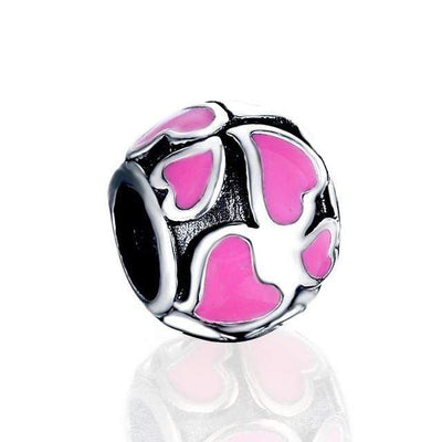 LZESHINE S925 Silver Enamel Flower Charms Bead Fit Original Pandora Bracelets DIY Jewelry Accessories Pendant Beads - Euforia Jewels