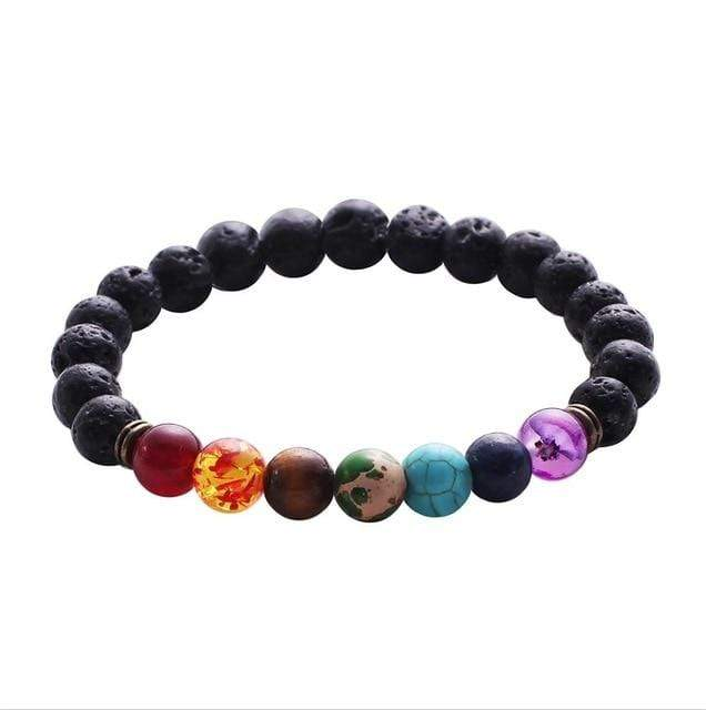 7 Chakra Lava Rock Anti Anxiety Bracelet