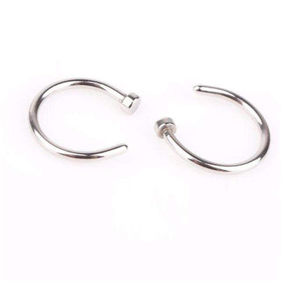 MISANANRYNE Fake Septum Medical Titanium Nose Ring Silver Gold Body Clip Hoop For Women Septum Piercing Clip Jewelry Gift 1pc - Euforia Jewels