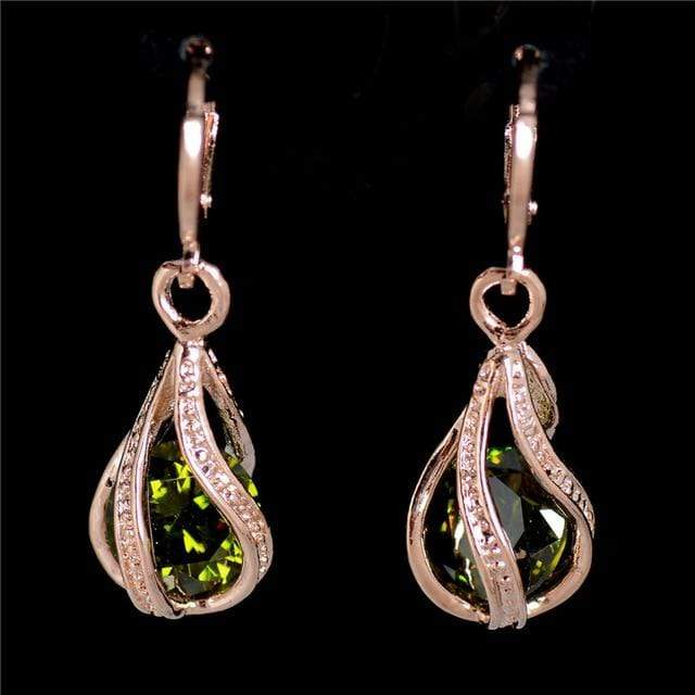 MISANANRYNE Nice Shipping New Fashion Women/Girl's Gold Color white/pink/purple/green CZ Dangle Earrings Jewelry