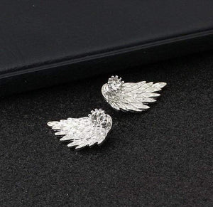 New Fashion Gift Lady Earring Party Jewelry Earrings Gold And Silver Gothic Cool Angel Wing Rhinestones Alloy Earrings For Women - Euforia Jewels