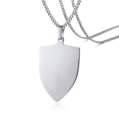 Personalise Stainless Steel Army Shield Tag for Men - Euforia Jewels